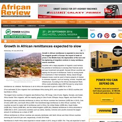 Growth in African remittances expected to slow
