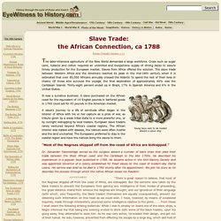 African Slave Trade, 1788