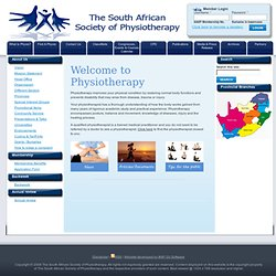 Home | The South African Society of Physiotherapy