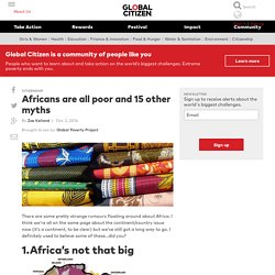 Africans are all poor and 15 other myths