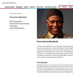 Prince Kum'a Ndumbe III - AfricAvenir International