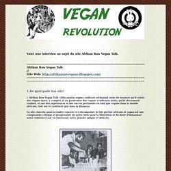 Afrikan Raw Vegan Talk