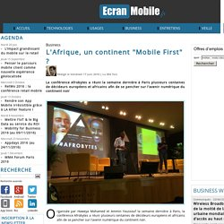 "L'Afrique, un continent ""Mobile First"" ?"