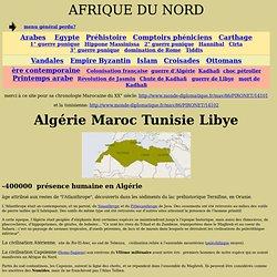 AFRIQUE DU NORD Maghreb arabes