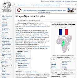 Afrique-Équatoriale française