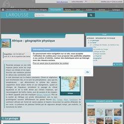 Afrique : géographie physique