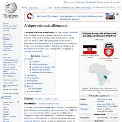 Afrique orientale allemande