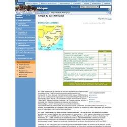 Afrique subsaharienne - Afrique du Sud : fiche-pays