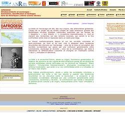 Accueil - AFRODESC - Afrodescendants et esclavages