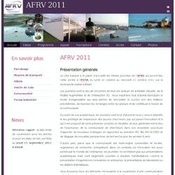 AFRV 2011 - Journées AFRV - AFIG 2011