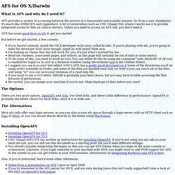 AFS and OS X