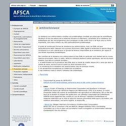 AFSCA 27/06/13 Dossier : Antibiorésistance
