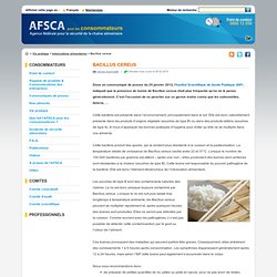 AFSCA 06/02/14 Bacillus cereus