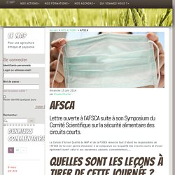 AFSCA - LE MAP