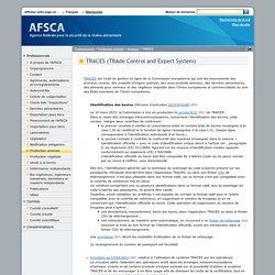 AFSCA - TRACES (TRAde Control and Expert System)