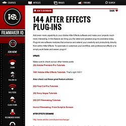 144 After Effects Plug-Ins