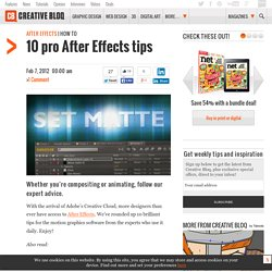 10 pro After Effects tips