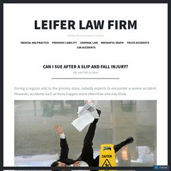 Can I Sue After a Slip and Fall Injury?