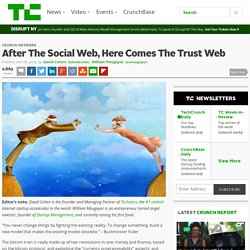 After the social web, here comes the trust web [01/18/15]