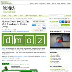 After 18 Years, DMOZ Is Closing Down