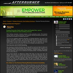 Afterburner Business Planning Workshop & Team Building Exercise