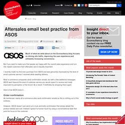 Aftersales email best practice from ASOS