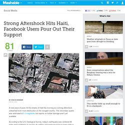 Strong Aftershock Hits Haiti, Facebook Users Pour Out Their Supp