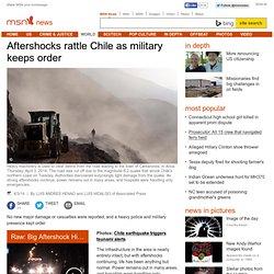 Magnitude-8.0 quake strikes northern Chile