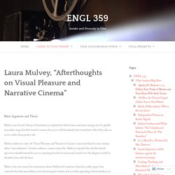 """Laura Mulvey, """"Afterthoughts on Visual Pleasure and Narrative Cinema"""" – ENGL 359"""