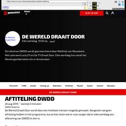 Aftiteling DWDD. - De Wereld Draait Door - BNNVARA