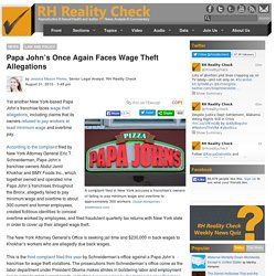 Papa John's Once Again Faces Wage Theft Allegations