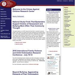 Crimes Against Children Research Center