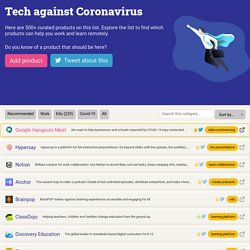 Tech against Coronavirus - a list to learn remotely