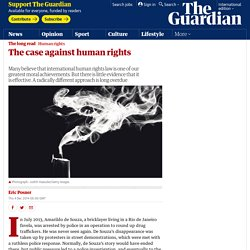 The case against human rights