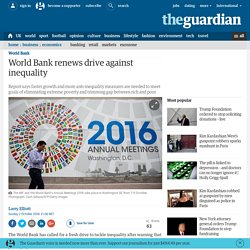World Bank renews drive against inequality