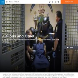 Use of Force against Inmates with Mental Disabilities in US Jails and Prisons