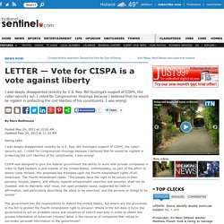 LETTER — Vote for CISPA is a vote against liberty