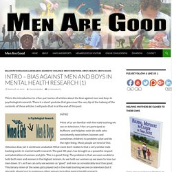 INTRO – Bias Against Men and Boys in Mental Health Research (1)