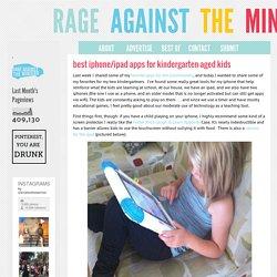best iphone/ipad apps for kindergarten-aged kids