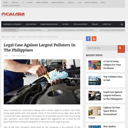 Legal Case Against Largest Polluters In The Philippines