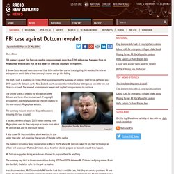 FBI case against Dotcom revealed