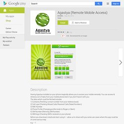 Agastya (Remote Mobile Access)