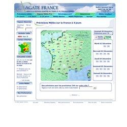 Agate France - Prévisions Météo sur la France à 4 jours