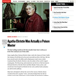 Agatha Christie Was Actually a Poison Master