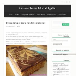 Cuisine et Loisirs Julia T et AgatheBrownie marbré au beurre d'arachides et chocolat