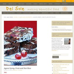 Agave Syrup, Fruit and Nut Slice - Del Sole