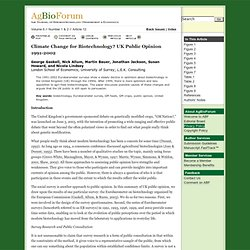 AGBIOFORUM - 2002 - Climate Change for Biotechnology? UK Public Opinion 1991-2002
