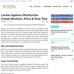 How Lavino Moisturizer Eye Cream Works?