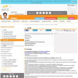 ACCRE - APCE, agence pour la création d'entreprises