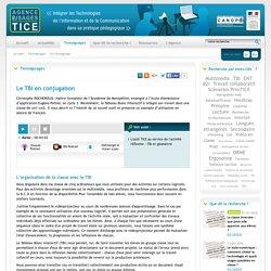 L'Agence nationale des Usages des TICE - Le TBI en conjugaison